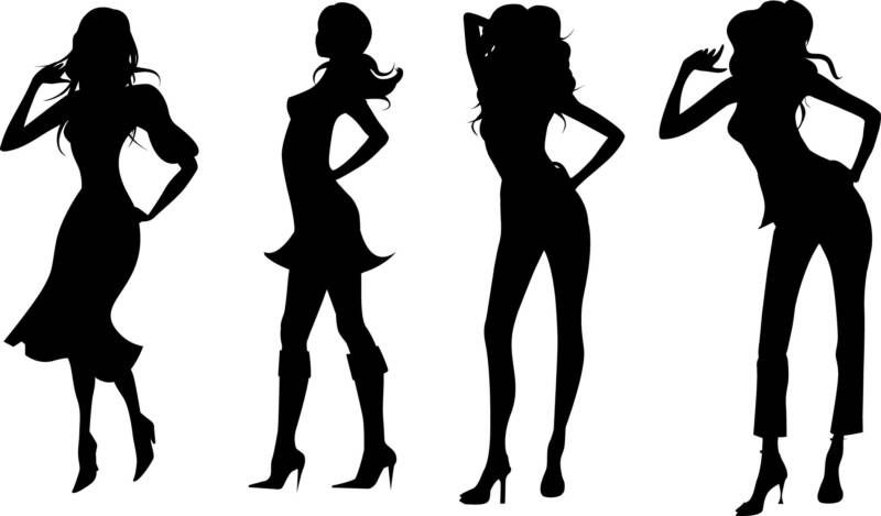 Top dessin silhouette femme TM66